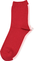 レディース agnes b. アニエスベー インターシャ バックライン ショート丈 ソックス