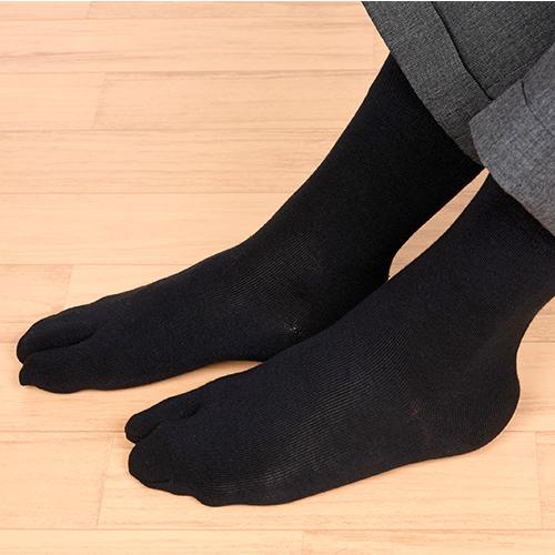 2足組 足袋型 すべり止め付き クルー丈 ソックス