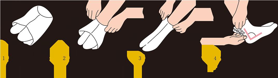 足袋の履き方