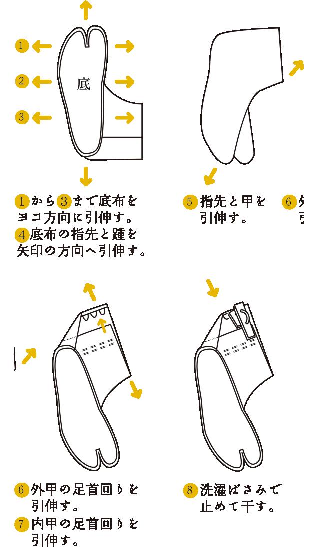足袋の洗濯と干し方
