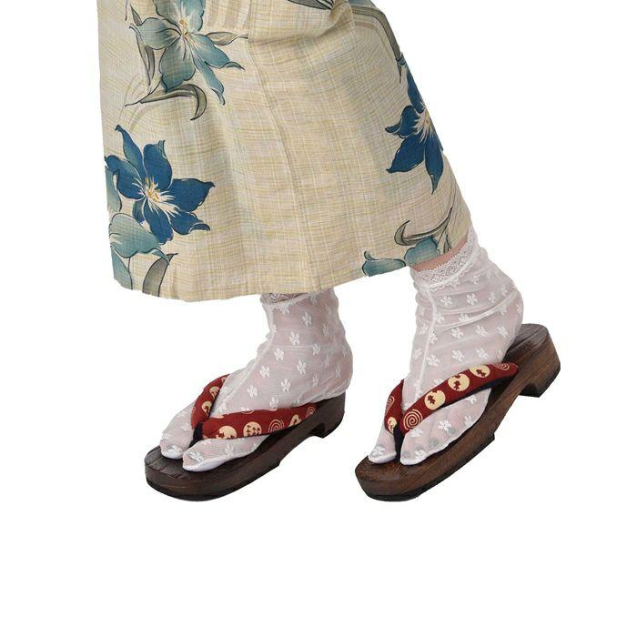 花柄レース足袋(白)