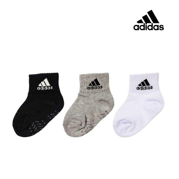 ベビー adidas(アディダス) 3足組 ワンポイント ショート丈 ソックス