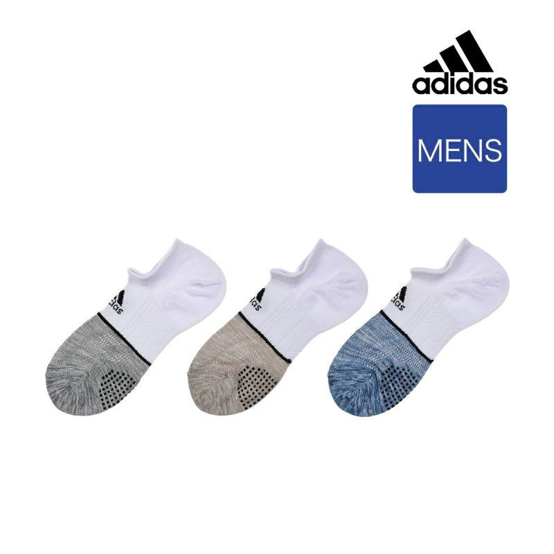 メンズ adidas (アディダス) 3足組 スーパーメッシュ 甲ロゴ くるぶし下丈 ソックス