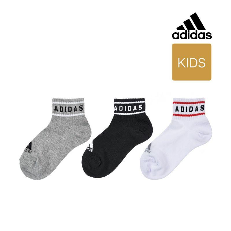 adidas(アディダス) 3足組 くちゴムリニア つま先かかと補強 ショート丈 ソックス