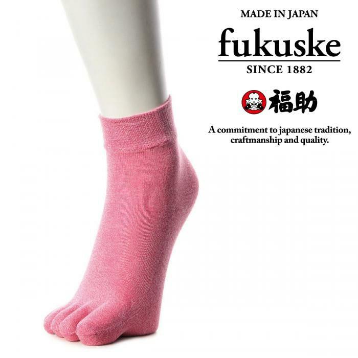 靴下ソックスレディース日本製5本指シルク福助フクスケ【《福助》シルク杢調5本指ソックス】