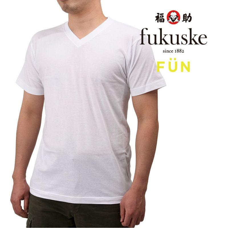 メンズfukuskeFUNVネックTシャツ