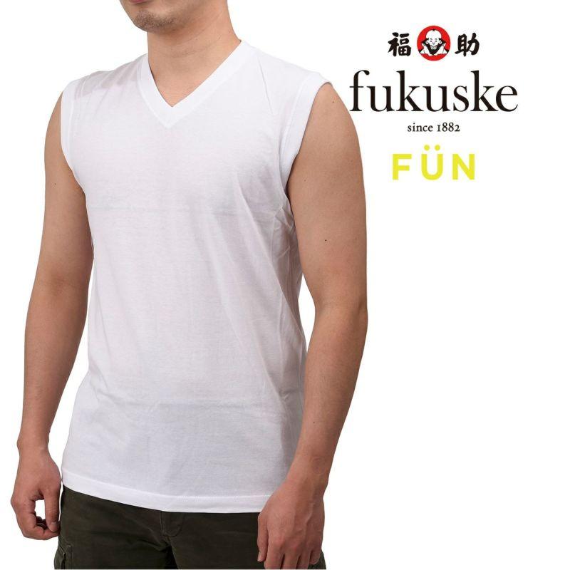 メンズfukuskeFUNVネックスリーブレスTシャツ