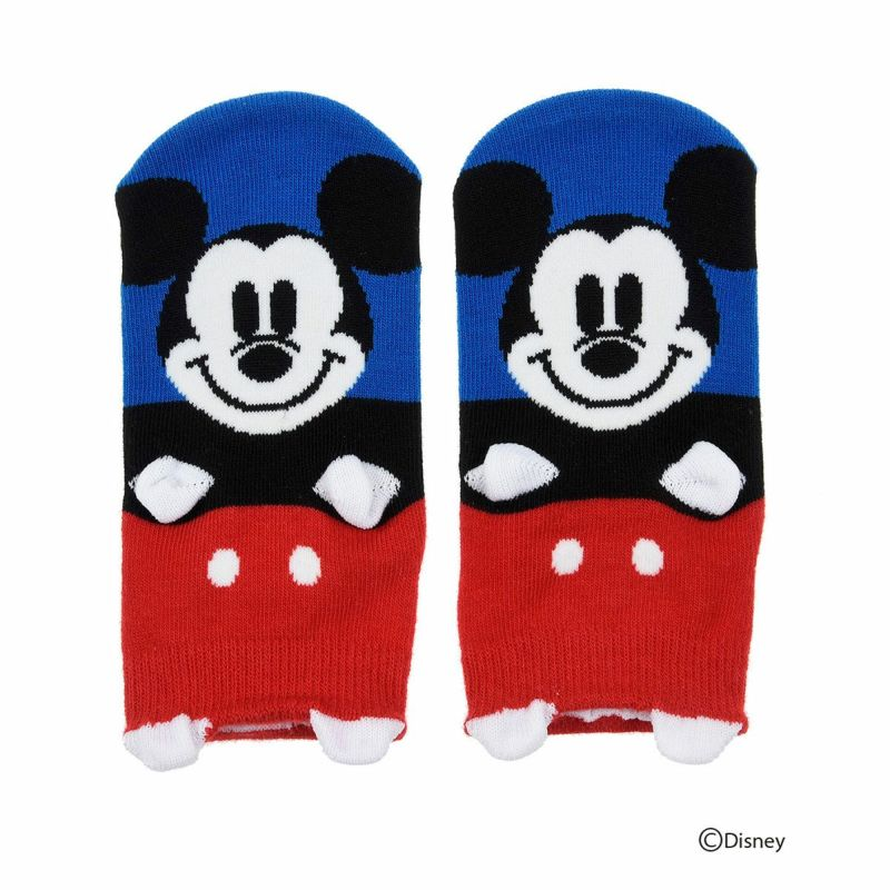 キッズDisney(ディズニー)ミッキーマウスミニーマウスパペットスニーカー丈ソックス