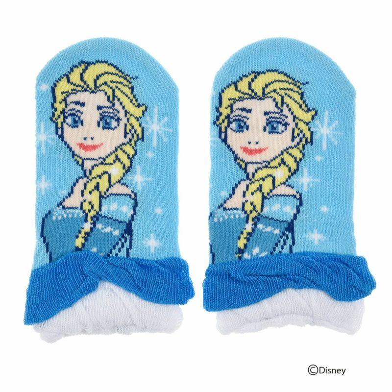 ベビーDisney(ディズニー)アナと雪の女王エルサパペットすべり止め付きスニーカー丈ソックス