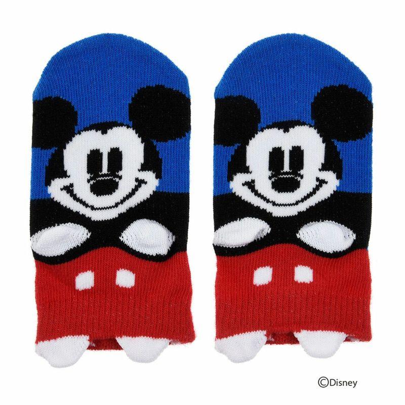ベビーDisney(ディズニー)ミッキーマウスミニーマウスパペットすべり止め付きスニーカー丈ソックス