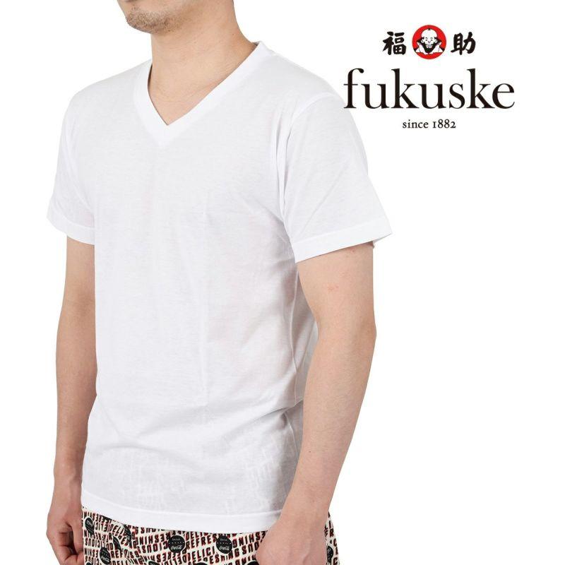 メンズfukuskeFUN2枚組Vネック半袖Tシャツ
